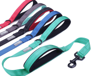 dog walkers recommend traffic leashes for walking dogs because it is two tools in one that keep dogs safe in different situations
